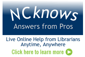 NC Knows - Live online help from librarians.